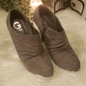 GUESS Gray Suede Booties Size 10